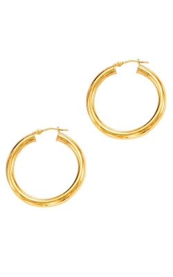 14K Yellow Gold 3x20mm Lite Hoop Earrings LT269 product image