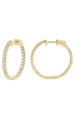 14K Yellow Gold, Diamond Round Hoop Earrings Style RE22557Y product image
