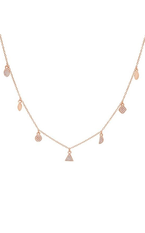 14K Rose Gold Diamond Charm Necklace RN43002 product image