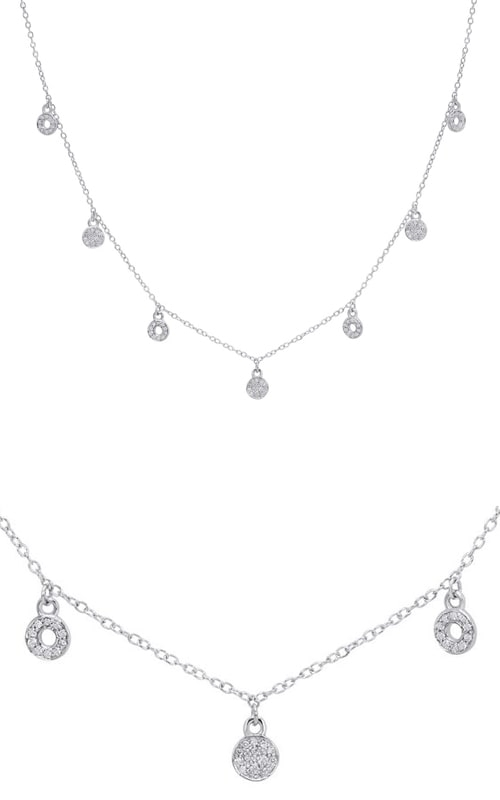 14K White Gold Diamond Charm Necklace DNECK03196 product image