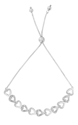 Silver Heart Bracelet #AGBRC5355-0925 product image