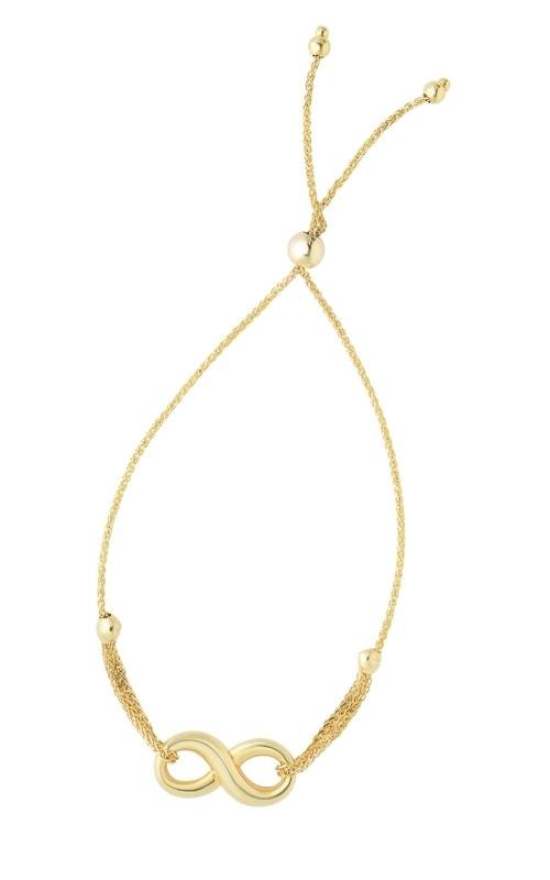 14K Yellow Gold Infinity Bracelet #N4219-0925 product image