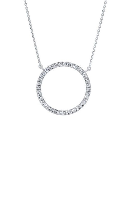 14K White Gold Diamond Circle Necklace RP33806 product image