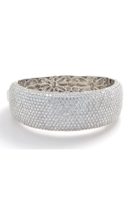 Silver 15 Row CZ Bangle Bracelet product image