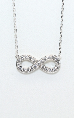 Silver CZ Infinity Necklace #SCZGT00794 product image