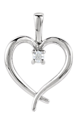14K Gold Heart Pendant #80030 product image
