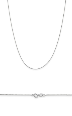 14K White Gold .5mm Box Chain product image