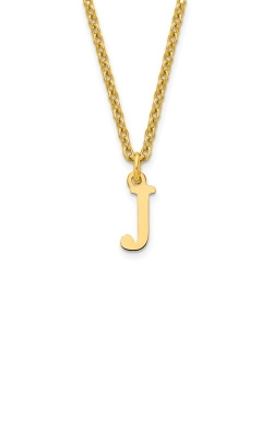 14K INITIAL J PENDANT WITH 18IN CABLE CHAIN product image