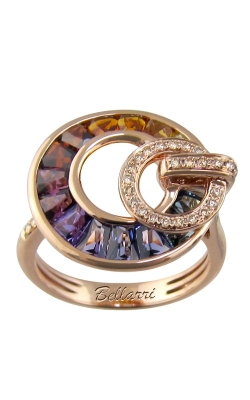 Bellarri Poetry in Motion 14K Rose Gold Diamond & Multi-Color Ring, Style R9124PG14M product image