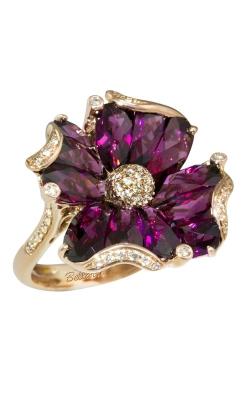 Bellarri Madamoiselle 14K Rose Gold Diamond & Rhodolite Ring, Style R8629PG14RH product image
