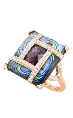 Bellarri Anastasia 14K Rose Gold Diamond, Abalone, & Rhodolite Ring, Style# R9034PG14ABRH product image