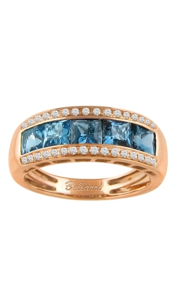Bellarri Eternal Love 14K Rose Gold Diamond & Blue Topaz Ring, Style R9147PG14BT product image