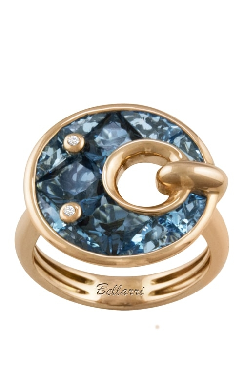 Hava Nouveau 14K Diamond & Blue Topaz Ring product image