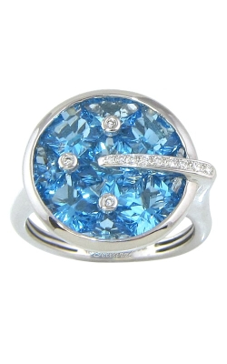 Bellarri Hava 18K White Gold Diamond & Blue Topaz Ring, Style# R8429WBT product image