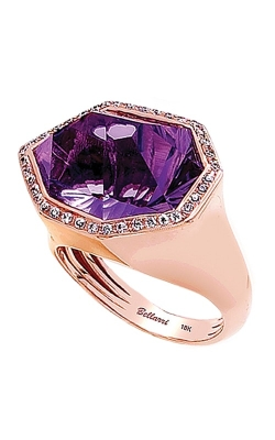 Bellarri Tuscany 18K Rose Gold Diamond & Amethyst Ring, Style R8793PGA product image