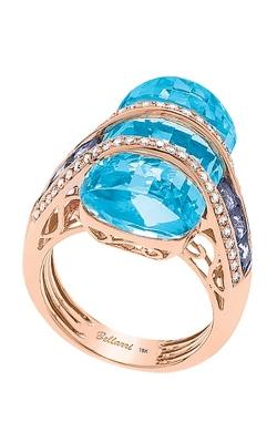 Bellarri Tango 18K Rose Gold Diamond, Blue Topaz, & Iolite Ring, Style R8825PGBTI product image