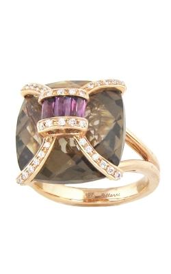 Bellarri Genevieve 18K Rose Gold Diamond, Rhodolite, & Smoky Quartz Ring, Style# R8745PGSQRH product image