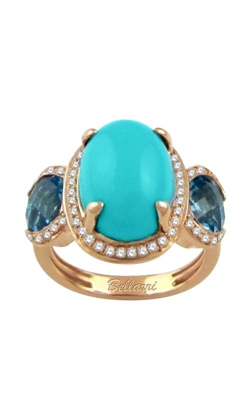 Alexandra 14K Diamond, Blue Topaz, & Turquoise Ring product image