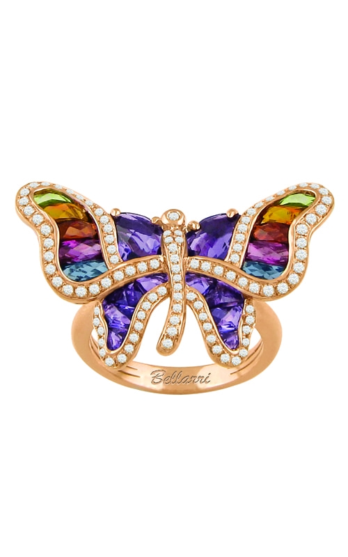 Madame Butterfly 14K Diamond & Multi-Color Ring product image