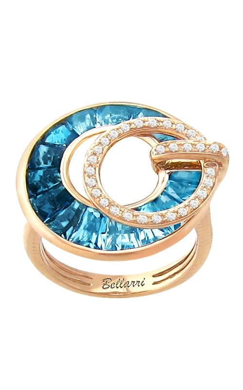 Poetry in Motion 14K Diamond & Blue Topaz Ring product image