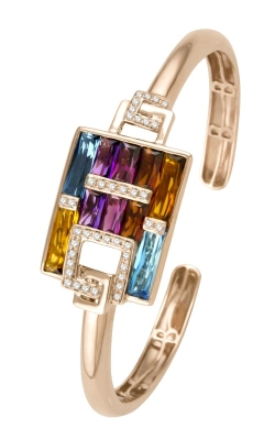 Bellarri Boulevard 14K Rose Gold Diamond & Multi-Color Bracelet, Style B907PG14/M product image