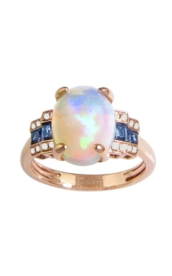 Athena 14K Rose Gold Diamond, London Blue Topaz, & Opal Ring, Style R9191PG14OBT-SO product image