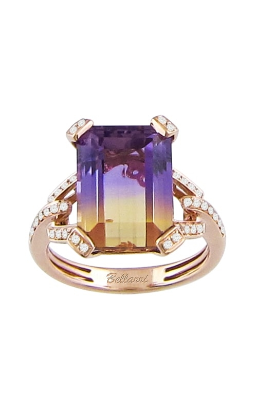 Fantasia 14K Rose Gold Diamond & Ametrine Ring product image