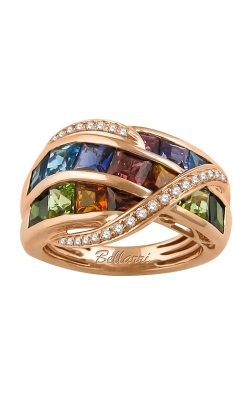 Bellarri Capri 14K Rose Gold Diamond & Multi-Color Ring, Style R9250PG14M product image