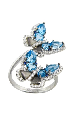 Vision Butterfly 14K Diamond & Blue Topaz Ring, Style R9306W14BT product image
