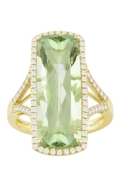 Silk Road 14K Yellow Gold Diamond & Prasiolite Ring, Style R9349YG14PA product image