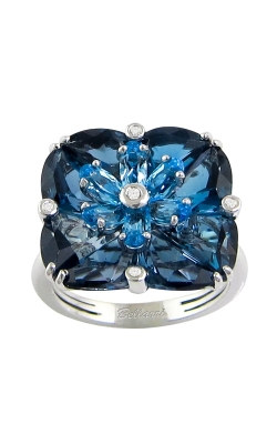 Fresco 14K White Gold Diamond & London Blue Topaz Ring, Style R9416W14LBT product image