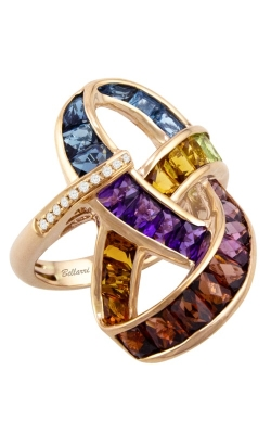 Lolita 14K Rose Gold Diamond & Multicolor Ring, Style R9476PG14M product image