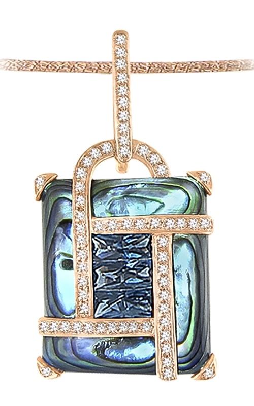 Anastasia 14K Diamond, Abalone, & Topaz Pendant product image
