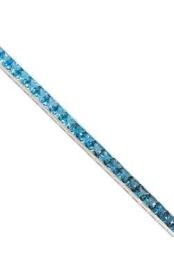 Bellarri Eternal Love 14K White Gold Blue Topaz Bracelet, Style B621W14BT product image