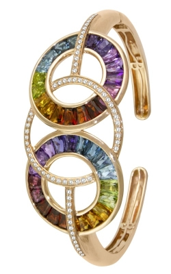 Malibu 14K Rose Gold Diamond & Multicolor Bracelet B936PG14M product image