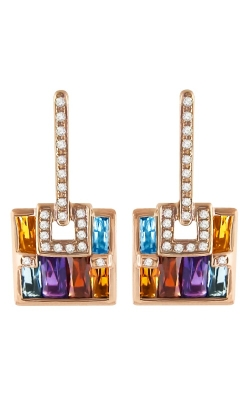 Bellarri Boulevard Diamond & Multi-Color Earrings, 14K Rose Gold Style ER2208PG14M product image