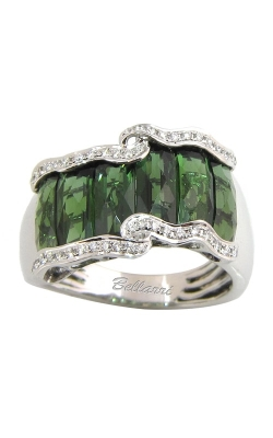 Bellarri Boulevard 18K White Gold Diamond & Green Tourmaline Ring, Style# R8669WGT product image