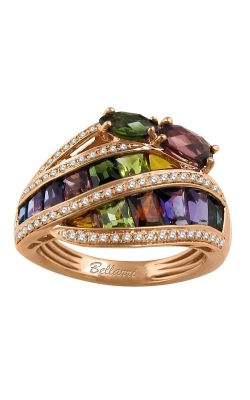 Bellarri Capri 14K Rose Gold Diamond & Multi-Color Ring, Style R9254PG14M product image