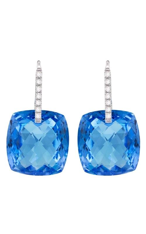 Legacy 18K White Gold Diamond & Blue Topaz Earrings product image