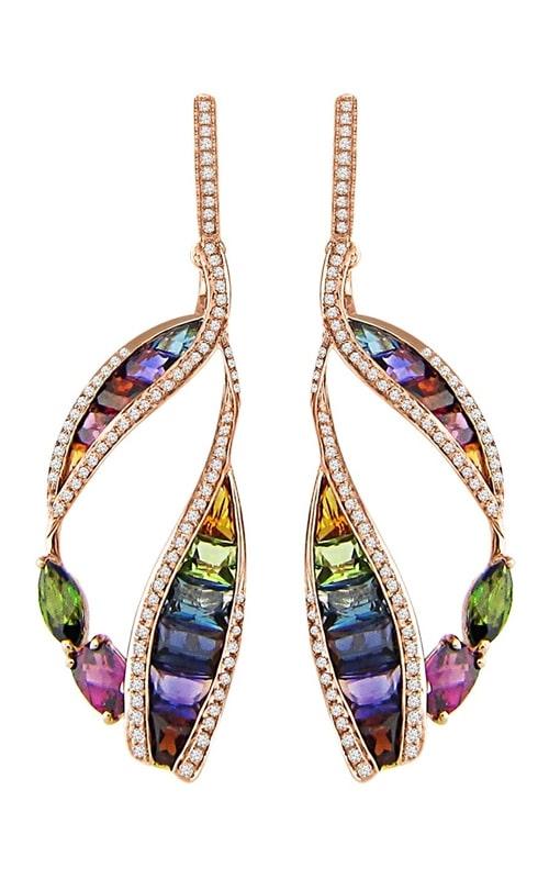 Capri 14K Rose Gold Diamond & Multi-Color Earrings product image