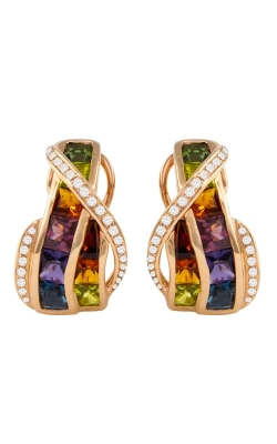 Capri 14K Rose Gold Diamond & Multicolor Earrings ER2388PG14M product image