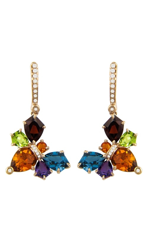 Queen Bee 14K Rose Gold Diamond & Multicolor Earrings product image