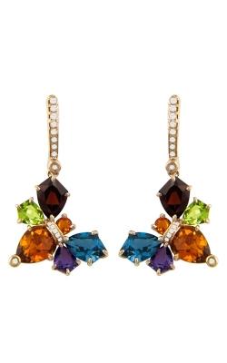 Queen Bee 14K Rose Gold Diamond & Multicolor Earrings ER2401PG14C product image