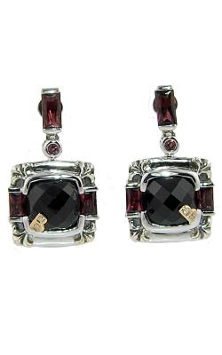 Bellarri Silver & 18K Rose Gold Diamond, Black Onyx, & Rhodolite Earrings, Style# ERS326BORH  product image