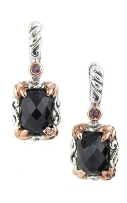 Bellarri Silver Two-Tone Diamond, Black Onyx & Rhodolite Earrings, Style# ERS336TTBO product image