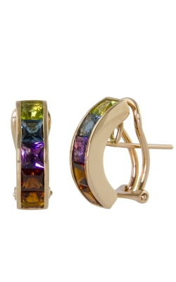 Bellarri Eternal Love 14K Rose Gold Multi-Color Earrings, Style ER2204PG14M product image
