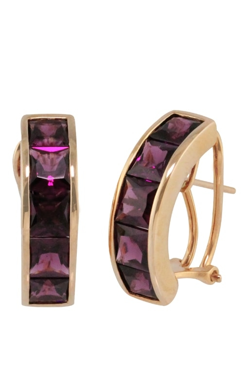 Eternal Love 14K Rose Gold Rhodolite Garnet Earrings product image