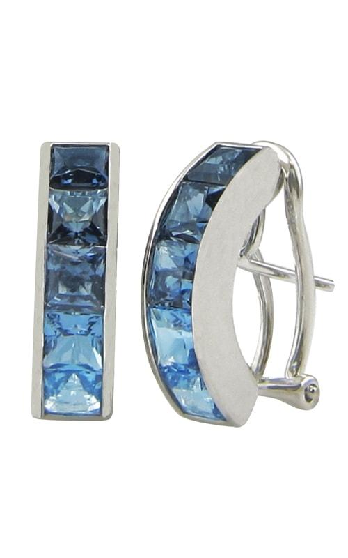 Eternal Love 14K White Gold Blue Topaz Earrings product image
