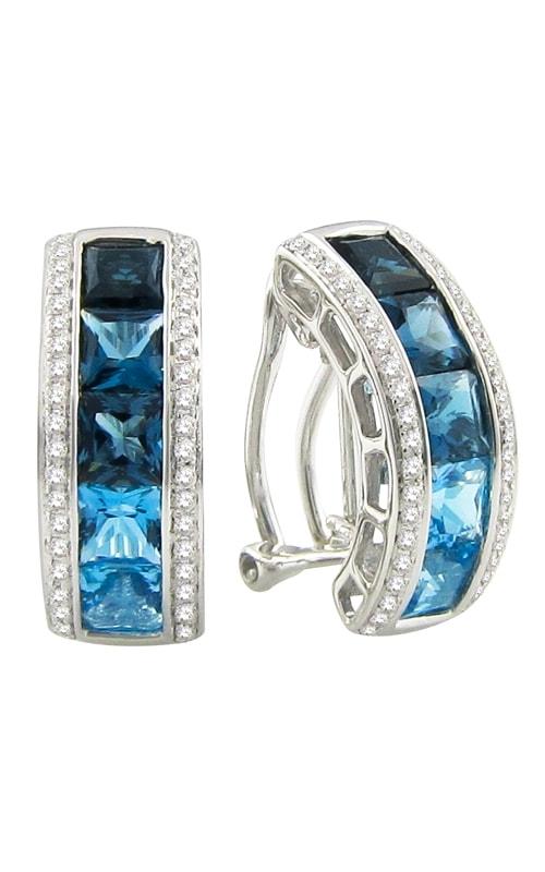 Eternal Love 14K Diamond & Blue Topaz Earrings product image