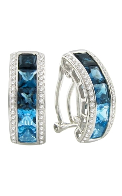 Bellarri Eternal Love 14K White Gold Diamond & London Blue Topaz Earrings, Style ER2255W14BT product image